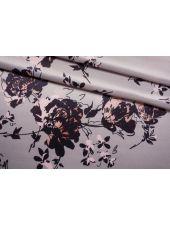 Плательная поливискоза атласная цветы на жемчужно-сиреневом фоне NST.H-C40 26022189