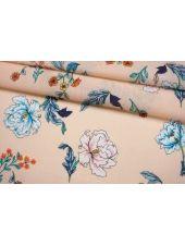 Марлевка бледно-персиковая с цветами FRM-A40 27022106