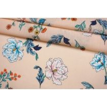 Марлевка бледно-персиковая с цветами FRM.H-A40 27022106