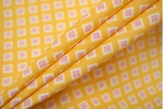 Рубашечный хлопок тонкий квадраты на желто-оранжевом FRM-B60 27022111