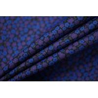Рубашечный хлопок тонкий цветы сине-фиолетовые FRM-A60  27022112