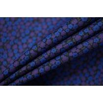 ОТРЕЗ 0,8 М Рубашечный хлопок тонкий цветы сине-фиолетовые FRM-(30)-27022112-1