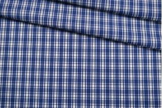 Хлопок рубашечный в клетку синий FRM-G4 27022113