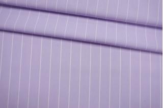 Поплин рубашечный в полоску бело-сиреневый FRM-G5 27022115