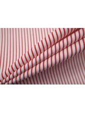 ОТРЕЗ 2,55 М Поплин рубашечный в полоску красно-белый FRM-(42)- 27022116-1