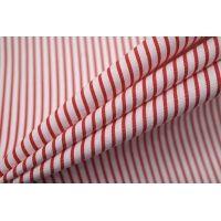 Поплин рубашечный в полоску красно-белый FRM-G5 27022116