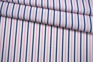 Поплин рубашечный в полоску сине-розовую FRM-A70 27022119