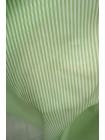 Поплин рубашечный в полоску бело-салатовый FRM-G4 27022120