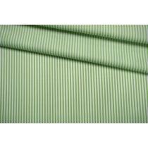 ОТРЕЗ 2,35 М Поплин рубашечный в полоску бело-салатовый FRM-(42)-27022120-1
