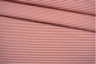 Сирсакер в полоску красно-белый FRM-E1 27022122