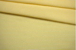 Сирсакер в полоску желто-белый FRM-E1 27022123