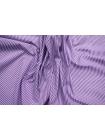 Поплин рубашечный в полоску бело-фиолетовый FRM-A70 27022129