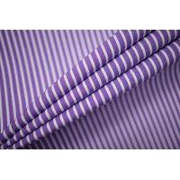 Поплин рубашечный в полоску бело-фиолетовый FRM-G5 27022129