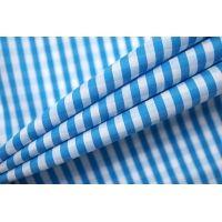 Хлопок рубашечный в клетку бело-голубой FRM-B70 27022132