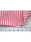 Хлопок рубашечный в полоску бело-розовый FRM-G5 27022134