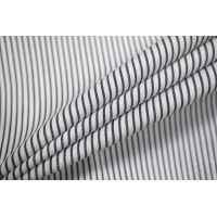 Поплин рубашечный в полоску черно-белый FRM-G5 27022135