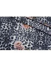 Футер цветочно-леопардовый голубоватый 2-х нитка IDT.H-Q10 28042105