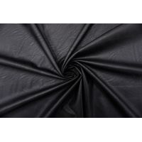 ОТРЕЗ 1,35 М Экокожа на вискозе черная FRM-(15)- 02062105-1