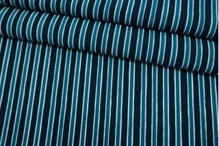 Креп тонкий шелк с вискозой синяя полоска PRT-M30 03052102