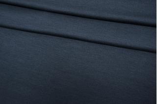 Трикотаж шелковый с вискозой темно-синий-Y20 03052118