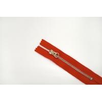 """Молния металлическая """"Lampo"""" красно-оранжевая 9 см B4 03072437"""