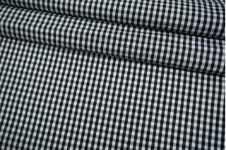 Хлопок рубашечно-плательный в черно-белую клетку BRS-B70 05062122