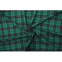 Плательно-рубашечный хлопок в клетку зеленый BRS-B70 05062126