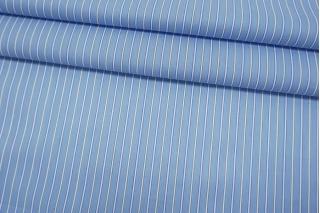 Хлопок рубашечный в полоску бело-голубой BRS-A70 05062127