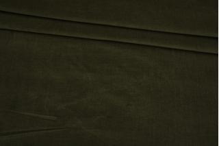 Микровельвет стрейч плательно-рубашечный хаки BRS-L50 05062167