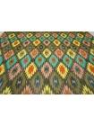 Батист шелковый с хлопком яркий орнамент Bazar BRS 06062107
