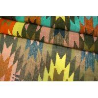 ОТРЕЗ 0,75 М Батист шелковый с хлопком яркий орнамент Bazar BRS-(34)- 06062107-1