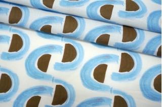 Батист коричнево-голубой BRS-A40 06062112