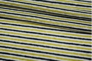 Трикотаж льняной в полоску сине-бело-зеленый NST-X30 07062112