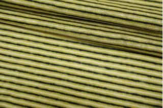 Трикотаж льняной в полоску сине-бело-зеленый NST-X30 07062113