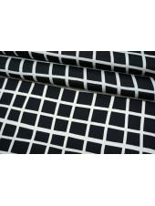 Плательная ткань черно-белая клетка TRC-M50 07072113