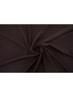 Крепдешин шелковый коричневый TRC-N50 07072116