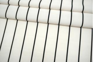 Плательная ткань в полоску черно-белая TRC-H20 07072117