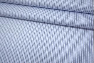 Жаккард хлопковый рубашечный голубой-G50 07072125