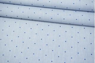 Рубашечный хлопок в полоску с горошком-B70 07072129