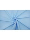 Поплин рубашечный белые горошки на голубом-A50 07072130