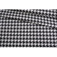 Экокожа на вискозе гусиная лапка черно-белая NST-F40 08062108