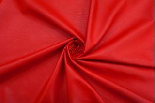 Экокожа на вискозе ярко-красная NST-F70 08062113