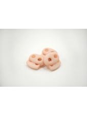 Фиксатор для шнурка пластик прорезиненный нежно-розовый 10072102