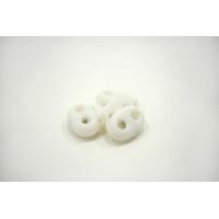 Фиксатор для шнурка пластик прорезиненный белый 10072103