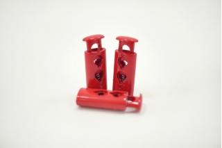 Фиксатор для шнурка пластик глянцевый розово-красный 10072105