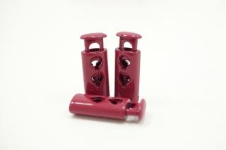 Фиксатор для шнурка пластик глянцевый ягодный 10072108