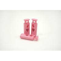 Фиксатор для шнурка пластик глянцевый нежно-розовый 10072109