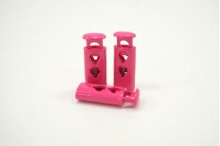 Фиксатор для шнурка пластик глянцевый розовый 10072113