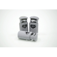 Фиксатор для шнурка пластик серый под камень 10072114