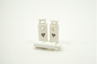 Фиксатор для шнурка пластик глянцевый белый 10072117